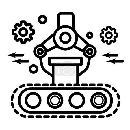 Illustration pour Bras de robot mécanique industriel. Illustration vectorielle - image libre de droit