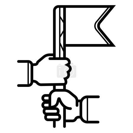 Illustration pour Illustration vectorielle de l'icône de poignée de main internationale - image libre de droit