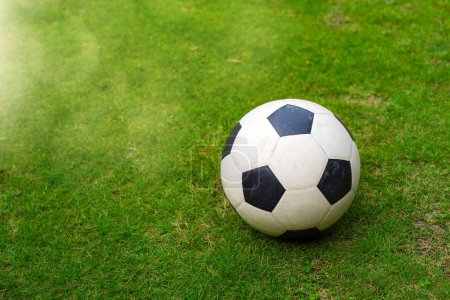 Photo for Football on the football field or soccer field - Royalty Free Image