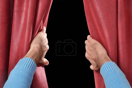 Hand open the curtain for the show...