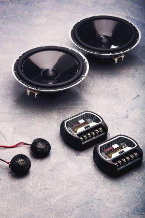 Photo pour Car audio, car speakers. - image libre de droit