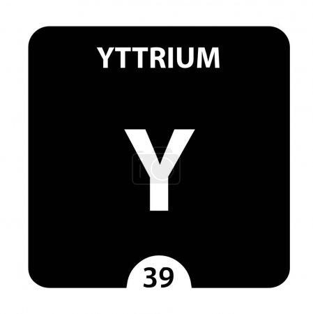 Photo pour Yttrium Y élément chimique. Signe d'Yttrium avec le numéro atomique. Élément chimique 39 du tableau périodique. Tableau périodique des éléments avec le nombre atomique, le poids et le symbole d'Yttrium. Laboratoire et - image libre de droit