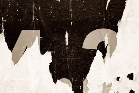 Photo for Old ripped torn brown creased crumpled posters texture background grunge vintage collage paper placard surface backdrop - Royalty Free Image