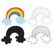 rainbow worksheet vector design rainbow artwork vector design