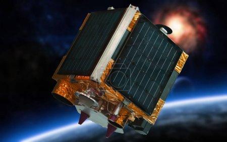 Photo pour Distance, télédétection de la terre (satellite dans l'espace) - image libre de droit