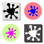 Spot simple flat vector icon illustration on four different color backgrounds