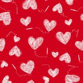 Heart shaped pattern illustrationI drew heart abstractlyThese works continue seamlessly