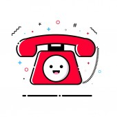 Phone MBE style kawaii character icon sticker