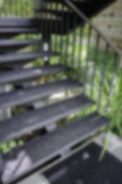 Light and shadow on the garden staircase, stock photo