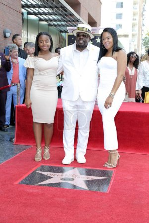 Photo for Lucky Rose Kyle, Cedric the Entertainer, Lorna Well C at the Cedric the Entertainer Star on the Hollywood Walk of Fame, Hollywood, CA 07-19-18 - Royalty Free Image