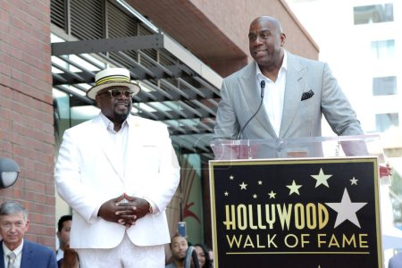 Photo for Cedric the Entertainer, Magic Johnson at the Cedric the Entertainer Star on the Hollywood Walk of Fame, Hollywood, CA 07-19-18 - Royalty Free Image