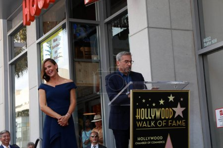 Jennifer Garner, Steve Carell au cérémonie Star Jennifer Garner, Hollywood Walk of Fame, Hollywood, Ca 20/08/18