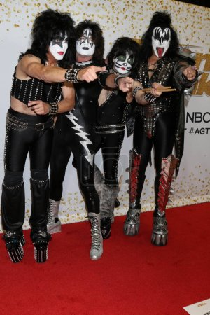 """Photo for Paul Stanley, Tommy Thayer, Eric Singer, Gene Simmons, KISS at the """"America's Got Talent"""" Crowns Winner Red Carpet, Dolby Theater, Hollywood, CA 09-20-18 - Royalty Free Image"""