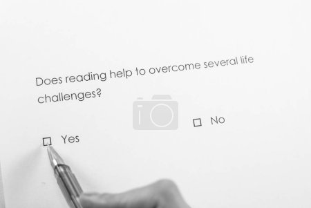 Does reading help to overcome several life challenges? Yes
