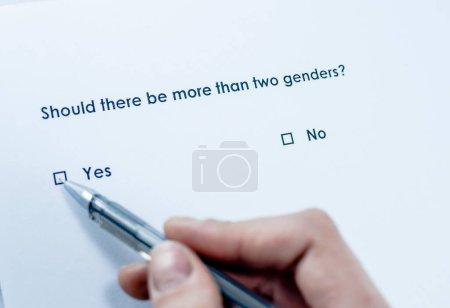 Photo pour S'il y a plus de deux sexes ? - image libre de droit