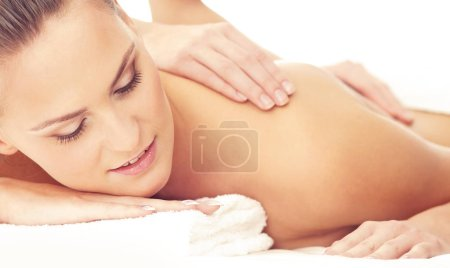 Photo for Healthy and Beautiful Woman in Spa. Recreation, Energy, Health, Massage and Healing Concept. - Royalty Free Image