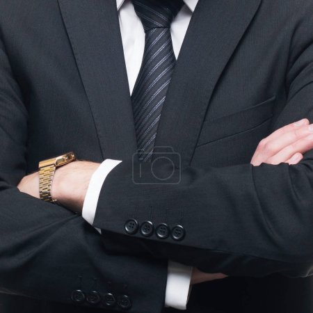 Photo for Close-up of businessman in formal wear. Businessperson in suit. Business concept. - Royalty Free Image