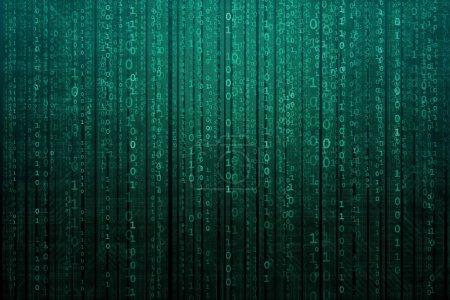 abstrakter digitaler Hintergrund mit Binärcode. Hacker, Darknet, virtuelle Realität und Science-Fiction-Konzept.