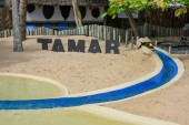 Sign of project Tamar at Praia do Forte on Brazil