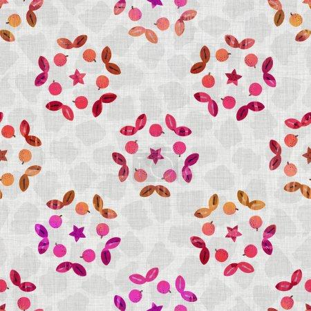 Acuarela floral sin costuras textura tejida. Damasco grunge dibujado a mano sobre fondo textil de tela de lino. Estilo de efecto de color de tinte de ombre lavado. Muestra artística pintada a mano angustiada. Decoración del hogar Boho
