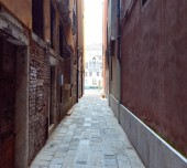 The lane in Venice. Italy. Europe