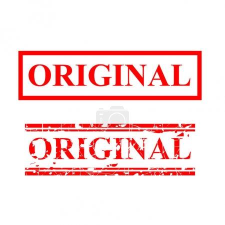 Photo pour Original, timbre en caoutchouc rouge à 2 lignes - image libre de droit