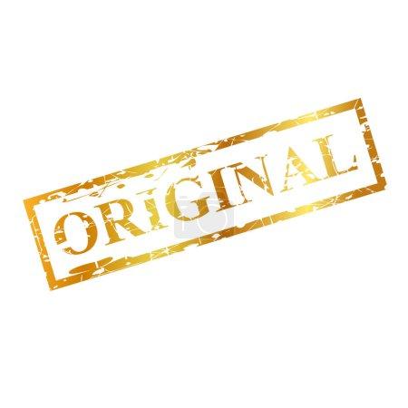 Photo pour Original, timbre en caoutchouc rouge Golden streak - image libre de droit