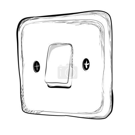 Photo for Simple Vector Doodle Hand Draw Sketch on off Electricity Switch - Royalty Free Image