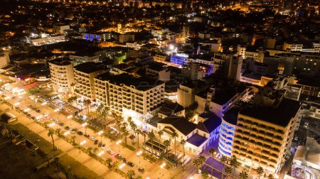 Photo for Aerial view of hotels district in modern city, Cyprus - Royalty Free Image