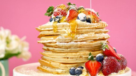 Shrove Pancake Tuesday, last day before Lent, stac...