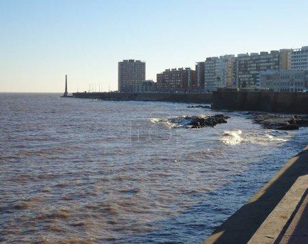 Photo pour Vue depuis la Rambla de Montevideo Uruguay - image libre de droit