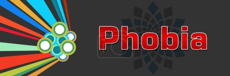 Photo for Phobia text written over dark colorful background. - Royalty Free Image