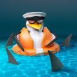 The sharks are circling poor penguin sailor captai...