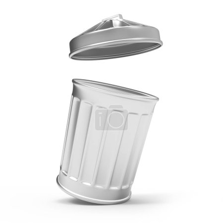 3d Trash can open