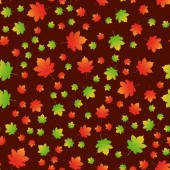 Colorful autumn maple leaves seamless pattern