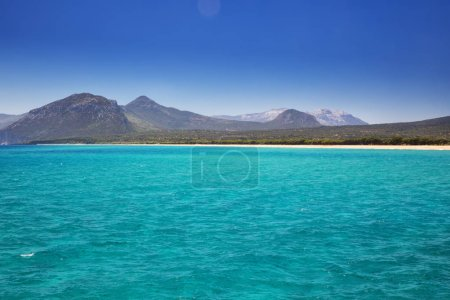 Beautiful Sardinia landscape with mountains and crystal clear water, Sardinia, Italy, Europe.