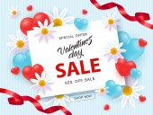 Vector illustration of Valentines day sale and special offer banner