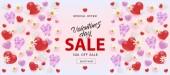 Vector illustration of Valentines Day Sale horizontal banner
