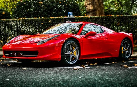 Modern luxury Ferrari 458 super
