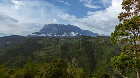 Beautiful nature landscape view with Mount Kinabalu, Kundasang, Sabah, Malaysia for Background use
