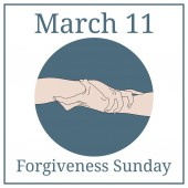 Forgiveness Sunday March 11 March holiday calendar Holding Hands Team partner alliance concept Relationship icon Vector illustration for your design
