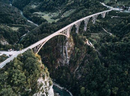 Montenegro. Bridge Dzhurdzhevicha. The view from the top.