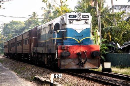 Old english train on Sri Lanka railway