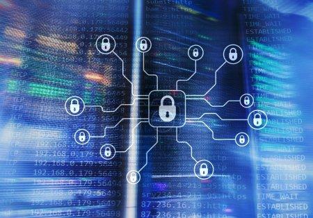 Foto de Ciber seguridad, protección de datos, privacidad de la información. Concepto de Internet y tecnología - Imagen libre de derechos