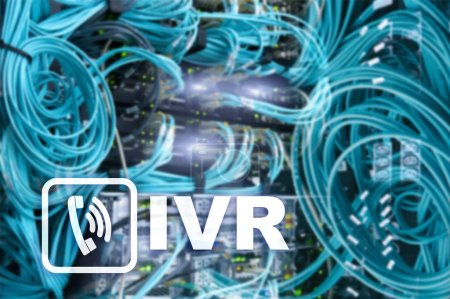 IVR Interactive voice response communication concept.IVR Interactive voice response communication concept.