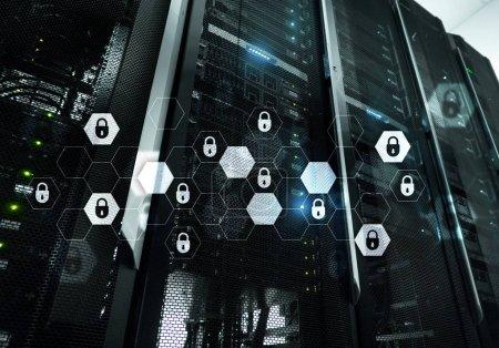 Photo pour Cyber-sécurité, protection des données, des renseignements personnels. Concept Internet et technologie. - image libre de droit
