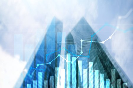 Financial growth graph.Sales increase, marketing strategy concept.Financial growth graph.Sales increase, marketing strategy concept.