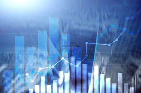 Financial growth graph.Sales increase, marketing strategy concept. Financial growth graph.