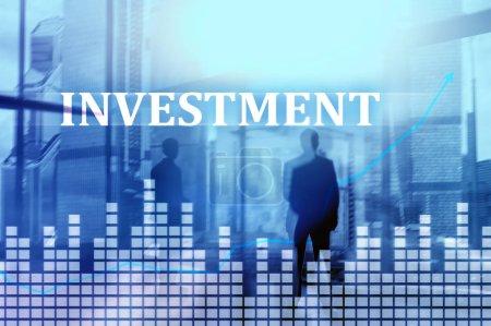 Photo pour Investissement, ROI, concept de marché financier . - image libre de droit