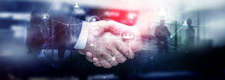 Les gens de double exposition réseau structure RH - gestion des ressources humaines et la notion de recrutement